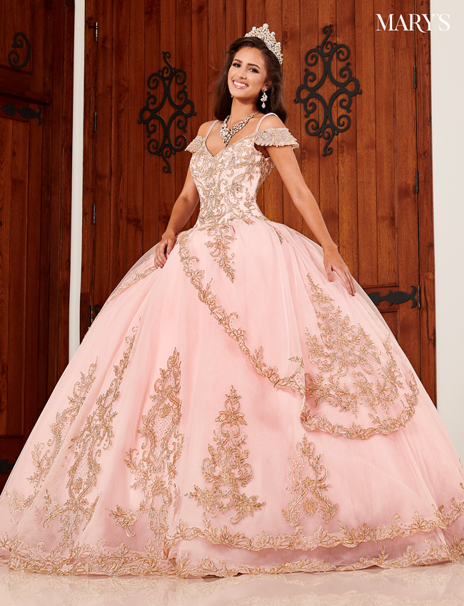 Blush Color Marys Quinceanera Dresses - Style - MQ2094