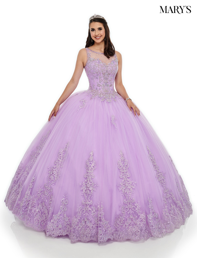 Lilac Color Marys Quinceanera Dresses - Style - MQ2097