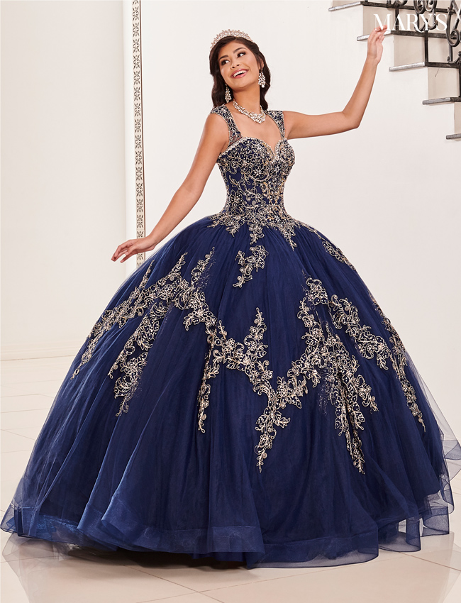 Champagne Color Marys Quinceanera Dresses - Style - MQ2098