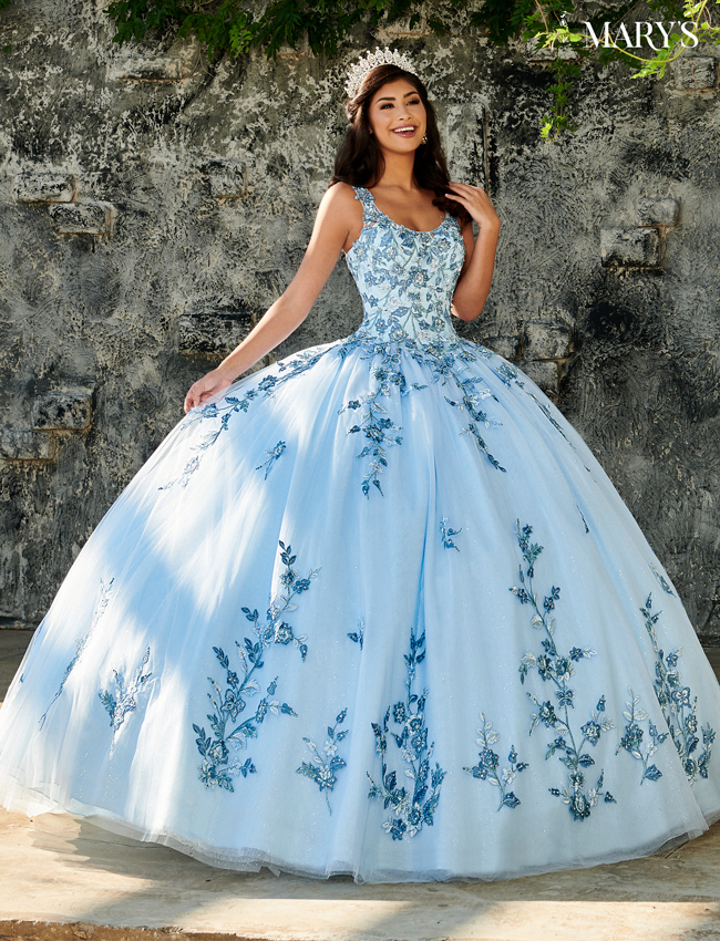 Blush Color Marys Quinceanera Dresses - Style - MQ2102