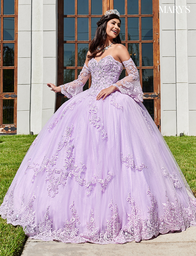 Blush Color Marys Quinceanera Dresses - Style - MQ2104
