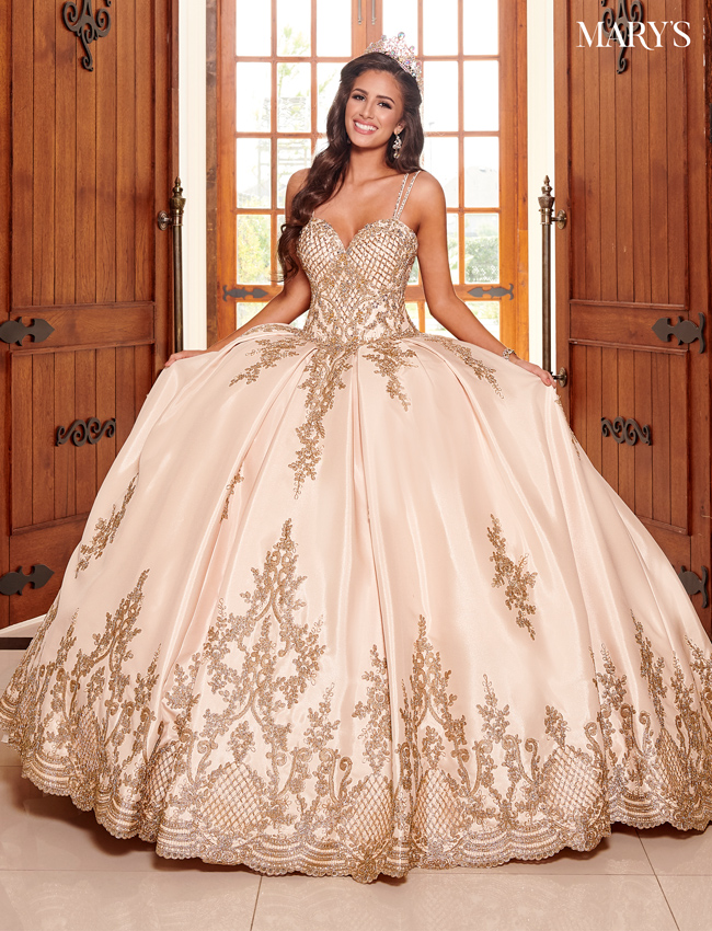 Champagne Color Marys Quinceanera Dresses - Style - MQ2105