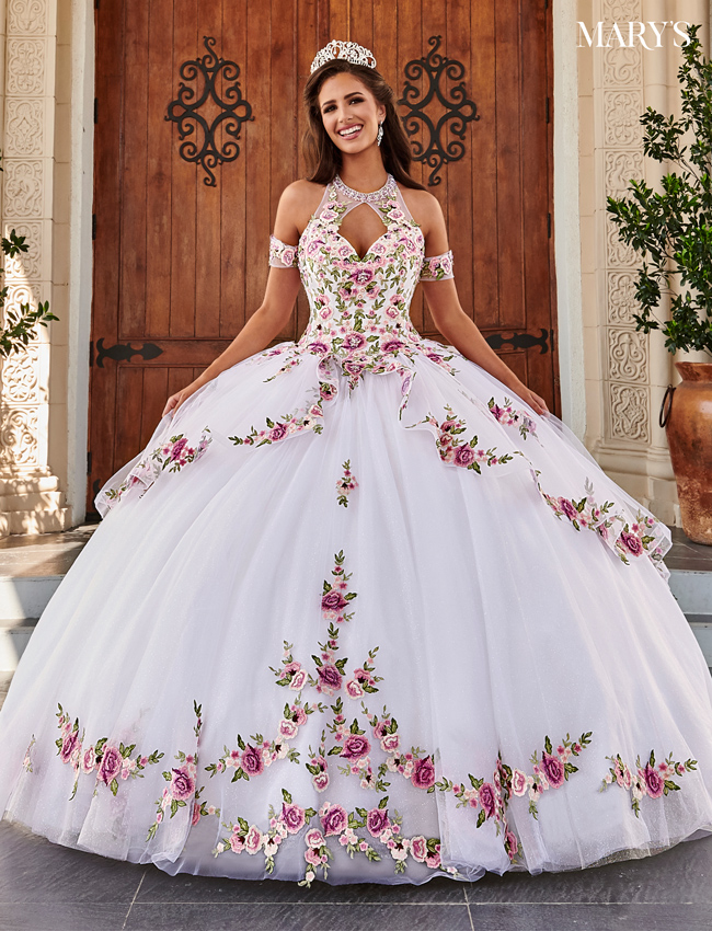 Blush Color Marys Quinceanera Dresses - Style - MQ2111