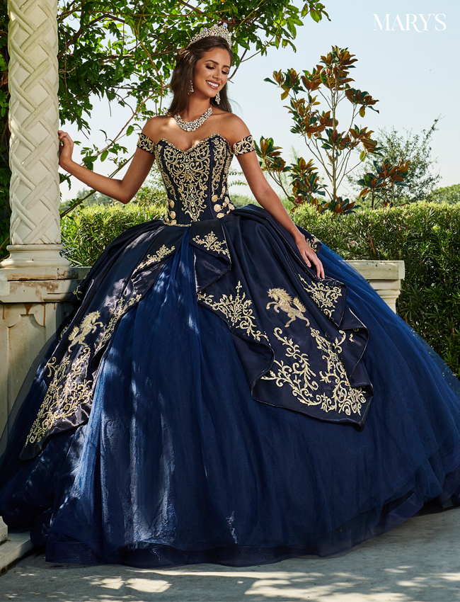 Red Color Marys Quinceanera Dresses - Style - MQ2112