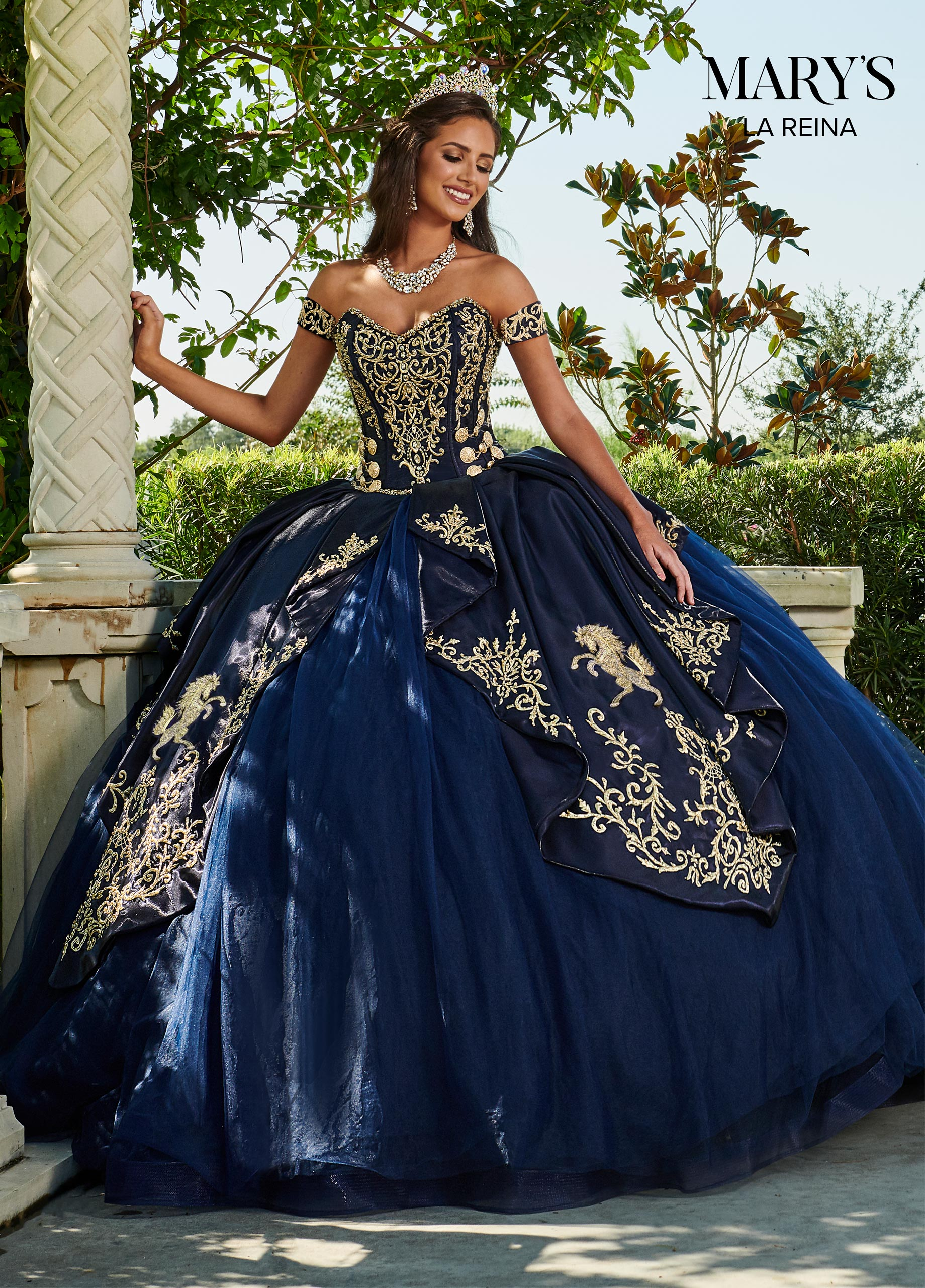 Lareina Quinceanera Dresses Style Mq2112 In Red Gold