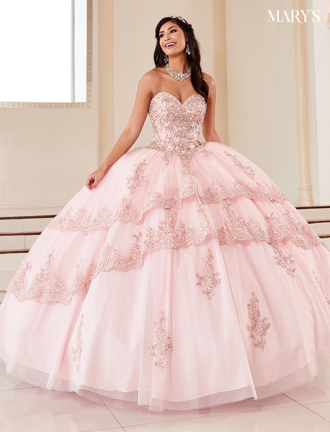 Dark Champagne Color Marys Quinceanera Dresses - Style - MQ2114
