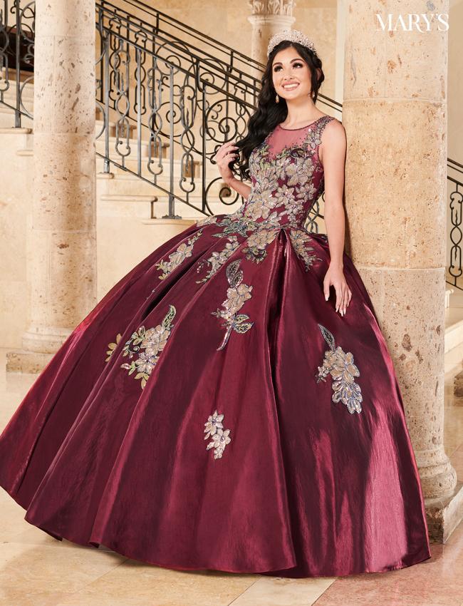Wine Color Lareina Quinceanera Dresses - Style - MQ2117