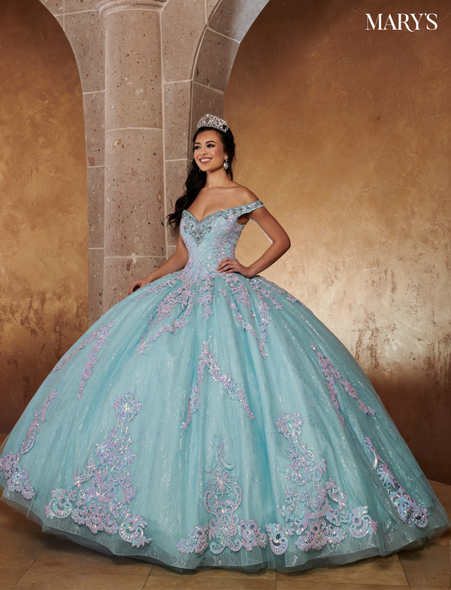 Light Blue Color Lareina Quinceanera Dresses - Style - MQ2119