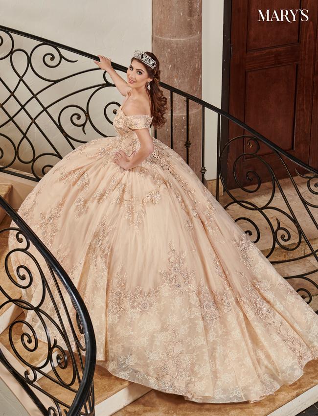 Burgundy Color Lareina Quinceanera Dresses - Style - MQ2120