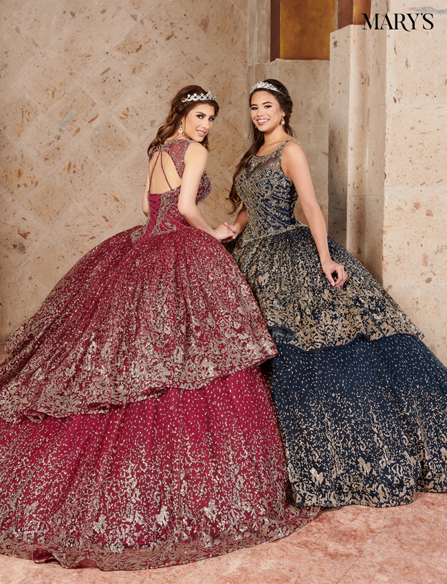 Navy Color Lareina Quinceanera Dresses - Style - MQ2121