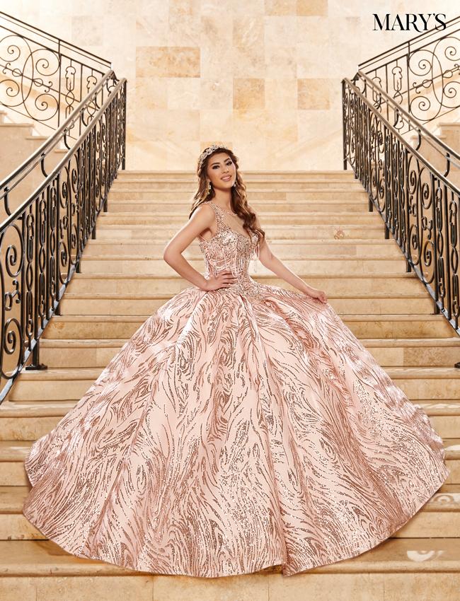 Rose Gold Color Lareina Quinceanera Dresses - Style - MQ2123