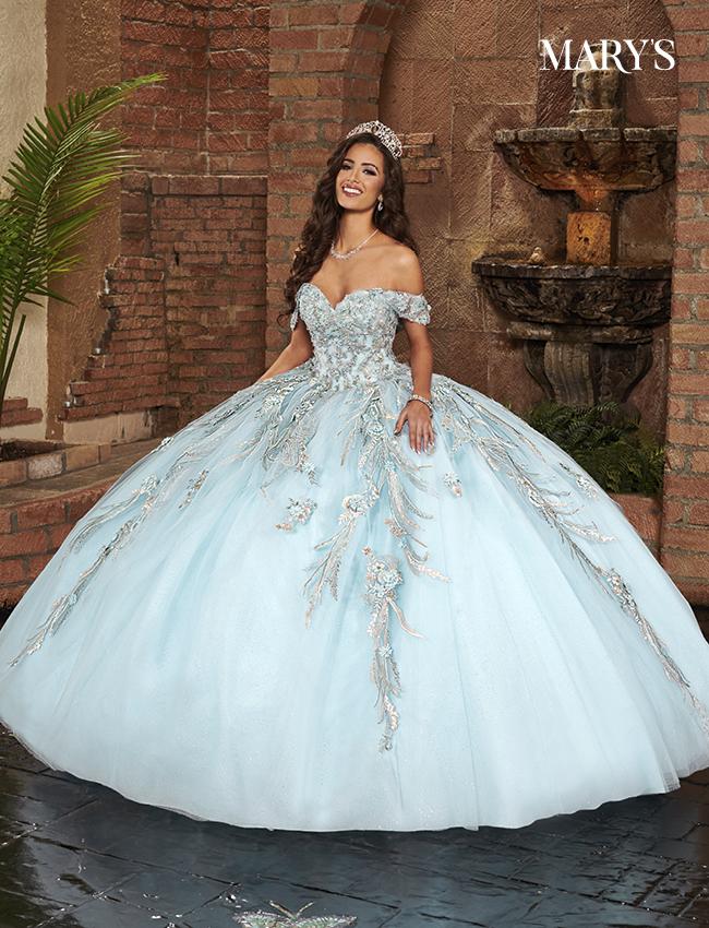 Light Blue Color Lareina Quinceanera Dresses - Style - MQ2132