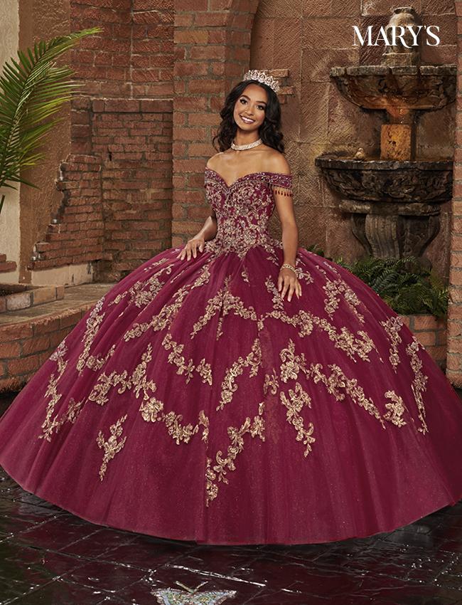 Burgundy Color Lareina Quinceanera Dresses - Style - MQ2133