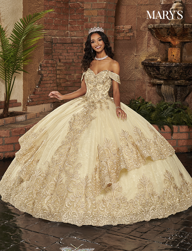 Champagne Color Lareina Quinceanera Dresses - Style - MQ2136
