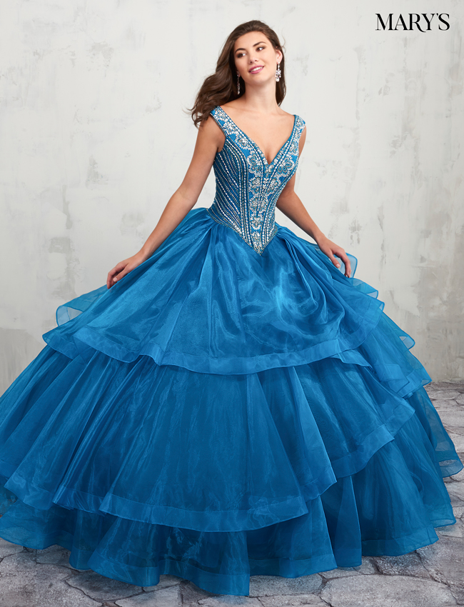 Ocean Color Quinceanera Couture Dresses - Style - MQ3005
