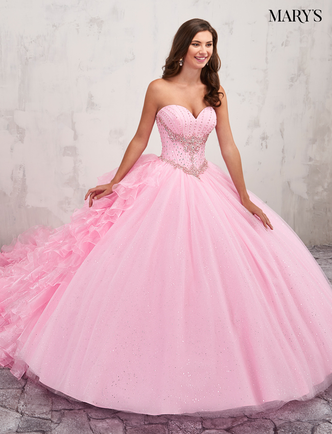 Pink Color Quinceanera Couture Dresses - Style - MQ3007