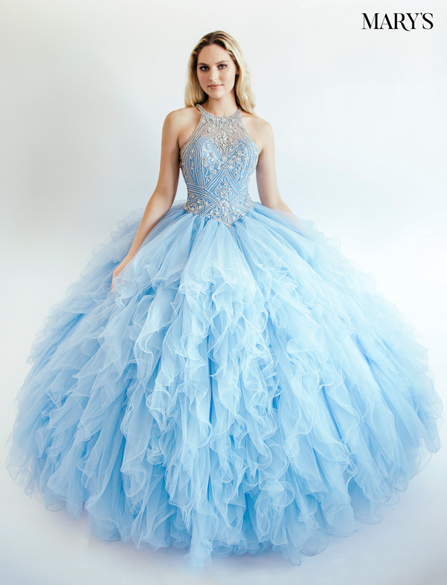 Coral Color Quinceanera Couture Dresses - Style - MQ3008