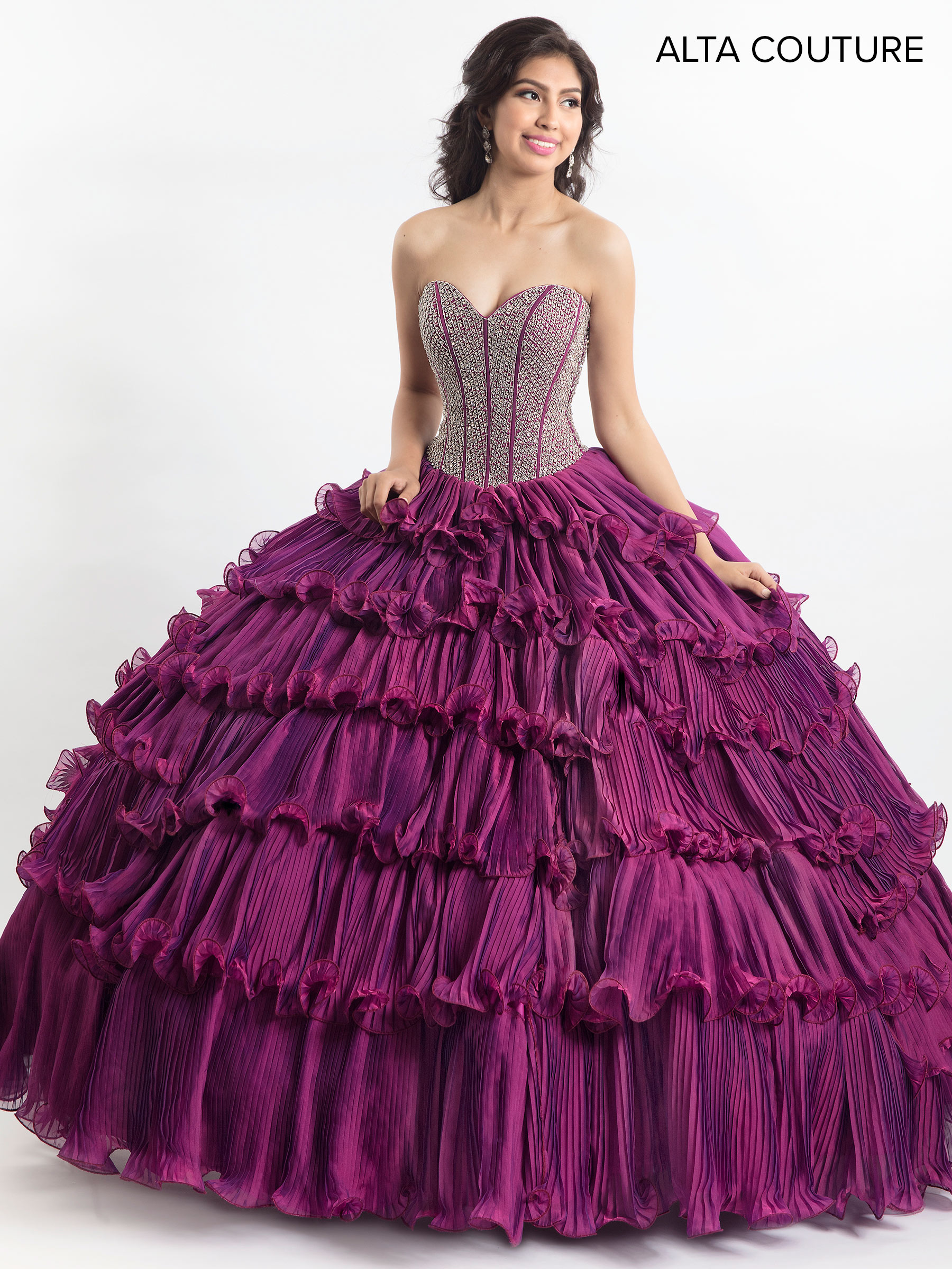 Quinceanera Couture Dresses   Style - MQ3010 in Mardi Gras or Light ...