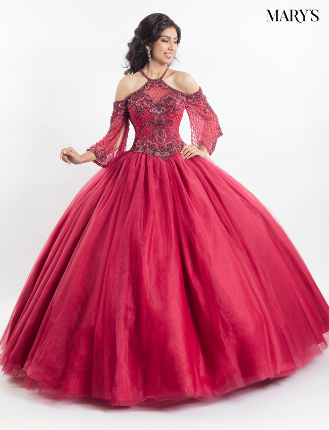Ruby Color Quinceanera Couture Dresses - Style - MQ3011