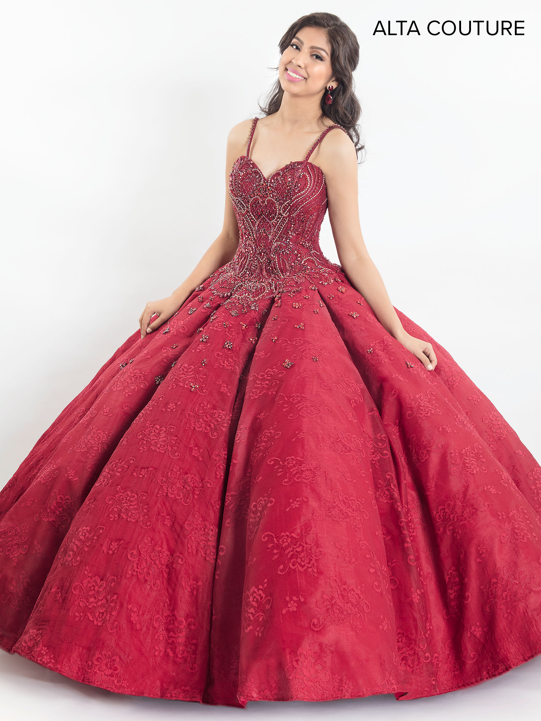 f5eb0c51125a Quinceanera Couture Dresses | Style - MQ3012 in Ruby Red, Light ...