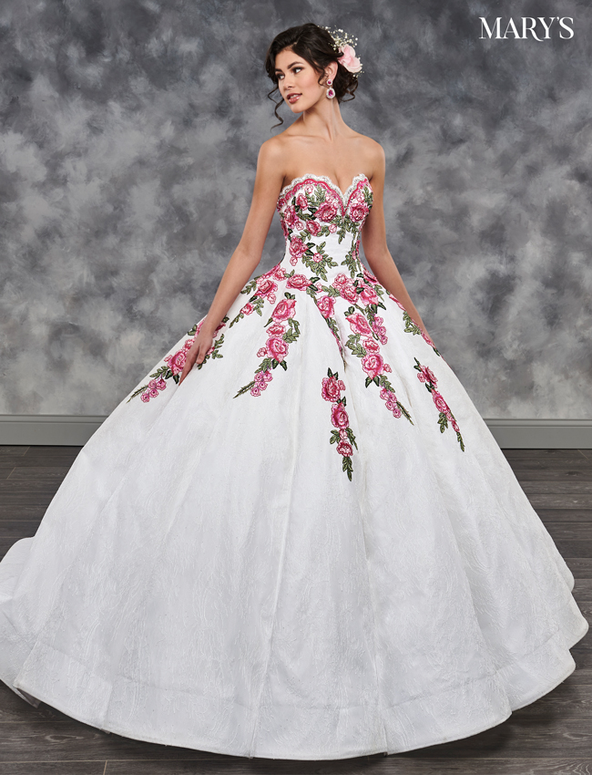 White Color Quinceanera Couture Dresses - Style - MQ3014