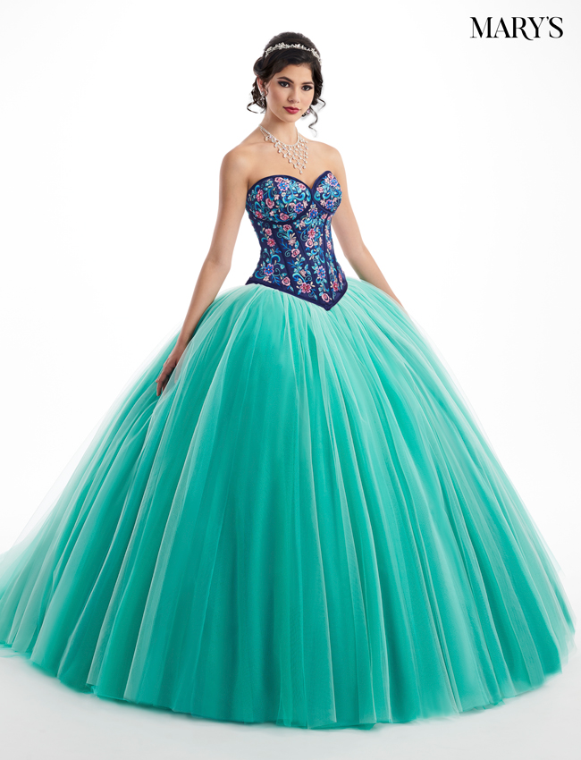 French Mint Color Quinceanera Couture Dresses - Style - MQ3021