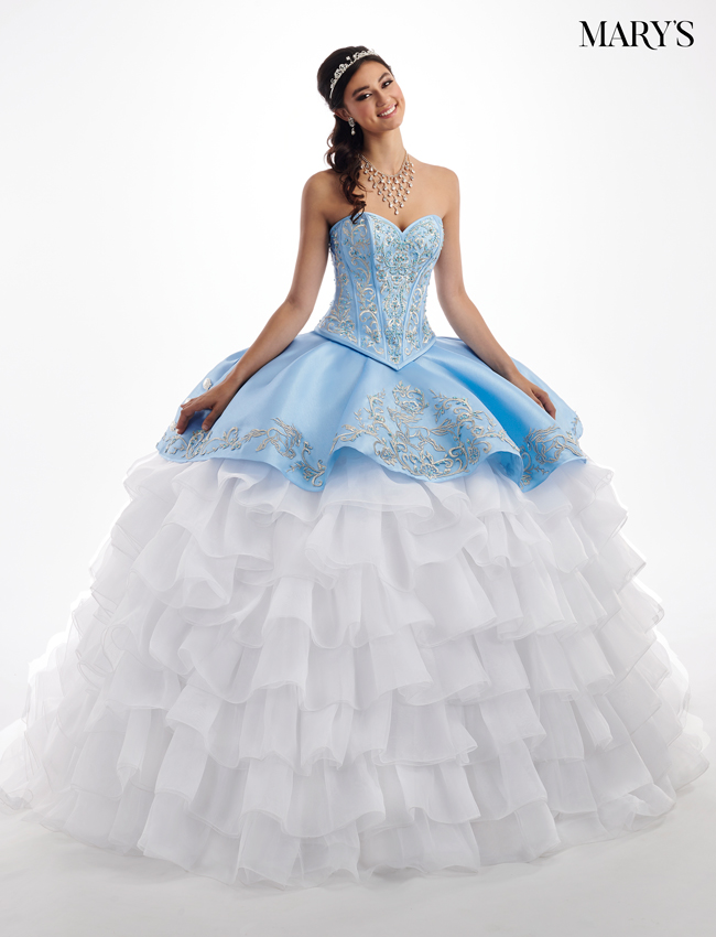 3210c62b344 Ice Blue Color Quinceanera Couture Dresses - Style - MQ3026