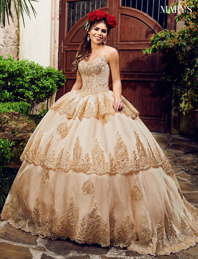 Champagne Color Quinceanera Couture Dresses - Style - MQ3031