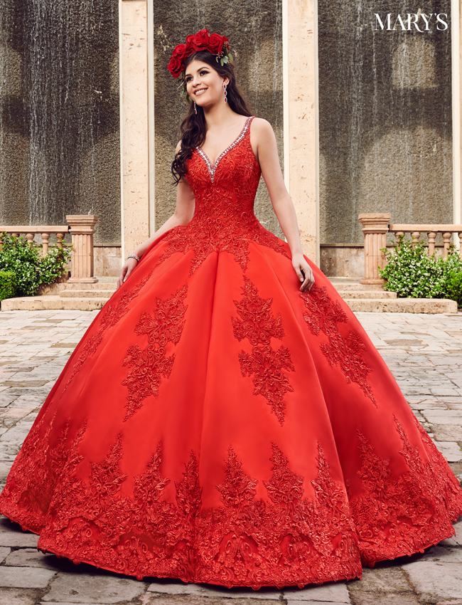 Red Color Quinceanera Couture Dresses - Style - MQ3032