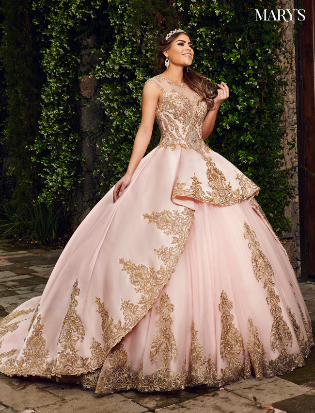 Champagne Color Quinceanera Couture Dresses - Style - MQ3034