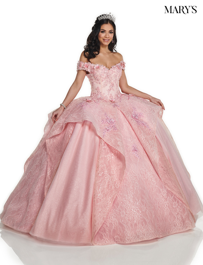 Pink Color Quinceanera Couture Dresses - Style - MQ3036
