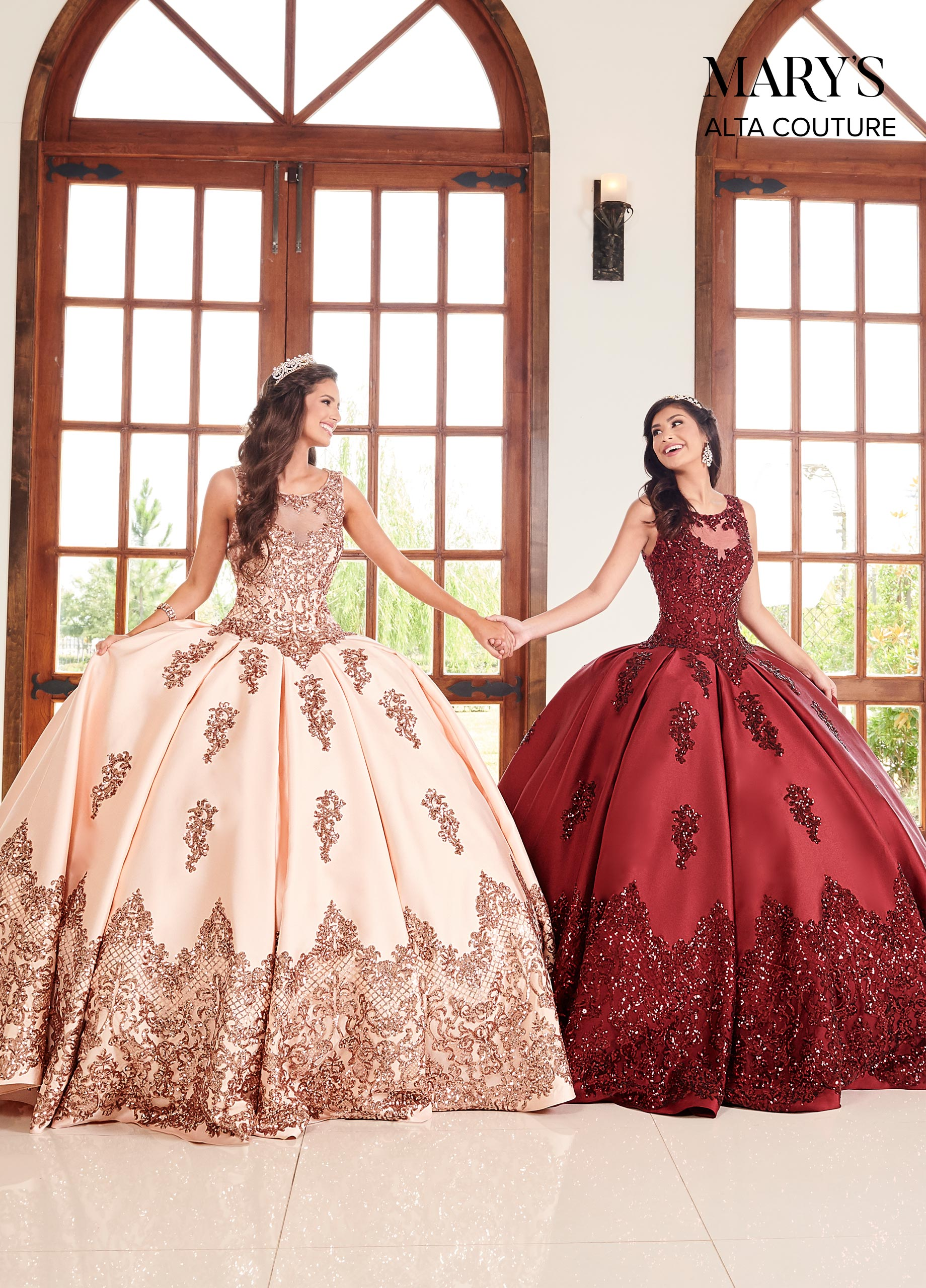 Quinceanera Couture Dresses Style Mq3038 In Burgundy