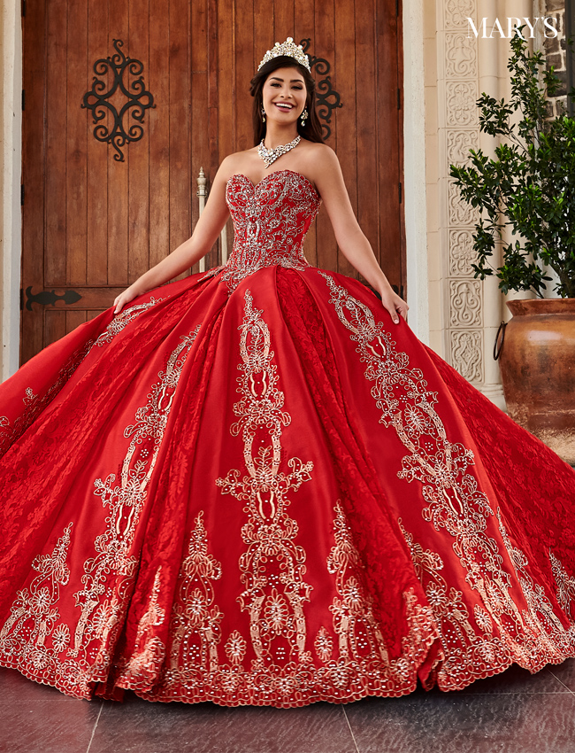 Red Color Quinceanera Couture Dresses - Style - MQ3044