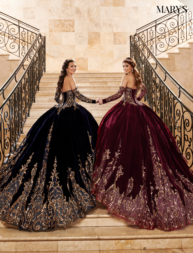 Burgundy Color Quinceanera Couture Dresses - Style - MQ3051