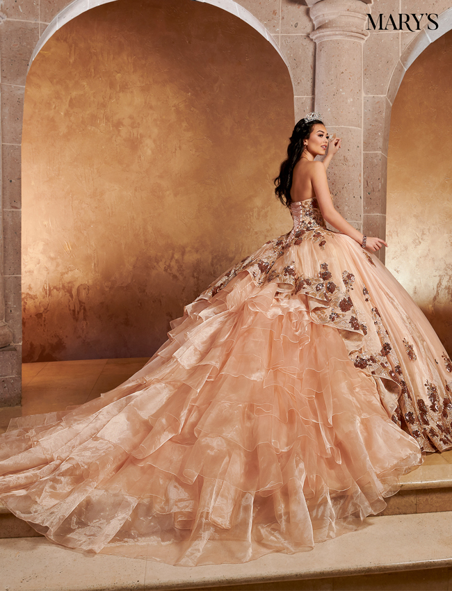 Dark Champagne Color Quinceanera Couture Dresses - Style - MQ3052
