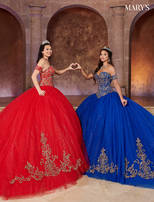 Bright Red Color Quinceanera Couture Dresses - Style - MQ3053