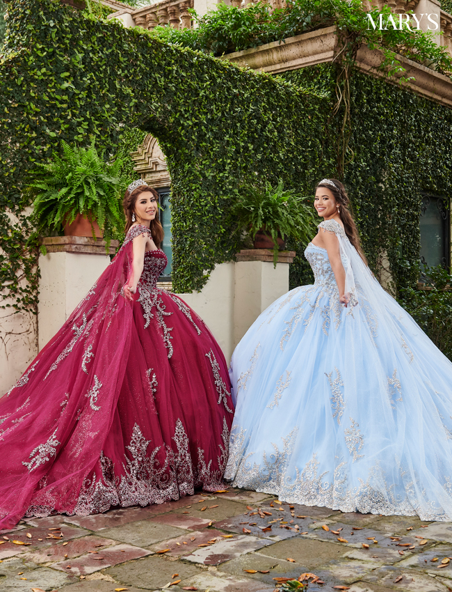 Burgundy Color Quinceanera Couture Dresses - Style - MQ3059