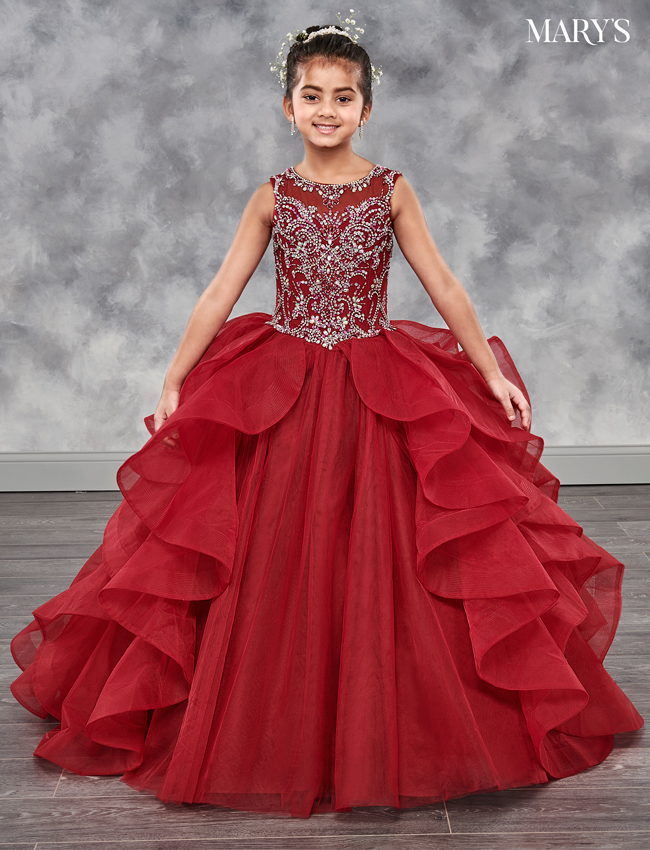 Burgundy Color Little Quince Dresses - Style - MQ4000