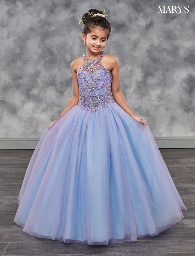 Cotton Candy Color Little Quince Dresses - Style - MQ4001