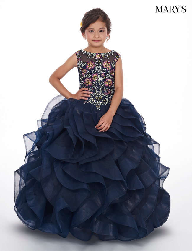 Periwinkle Color Little Quince Dresses - Style - MQ4005