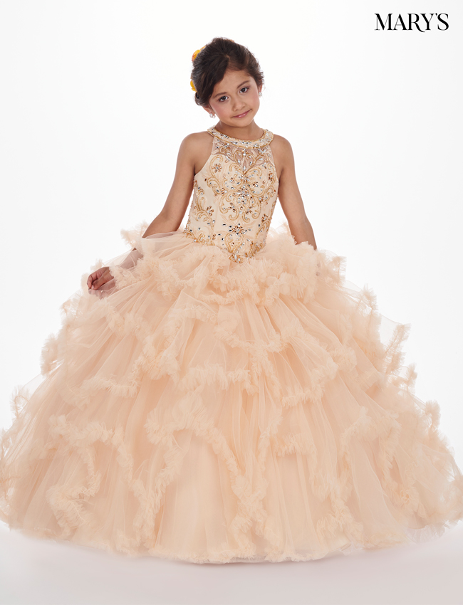 Dark Champagne Color Little Quince Dresses - Style - MQ4008