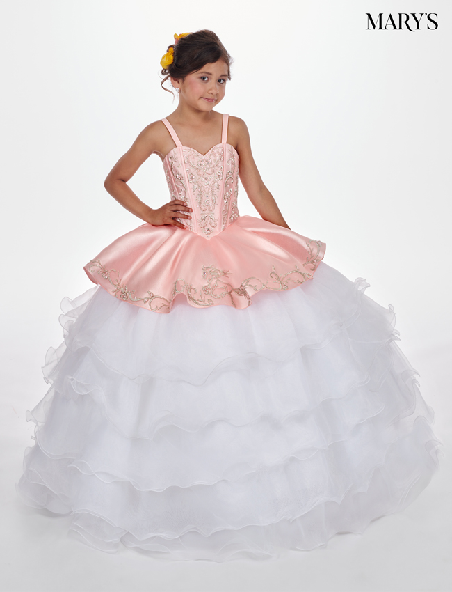 Ice Blue Color Little Quince Dresses - Style - MQ4010