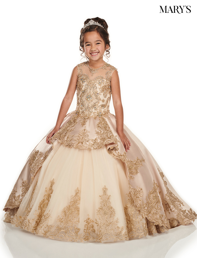 Champagne Color Little Quince Dresses - Style - MQ4014