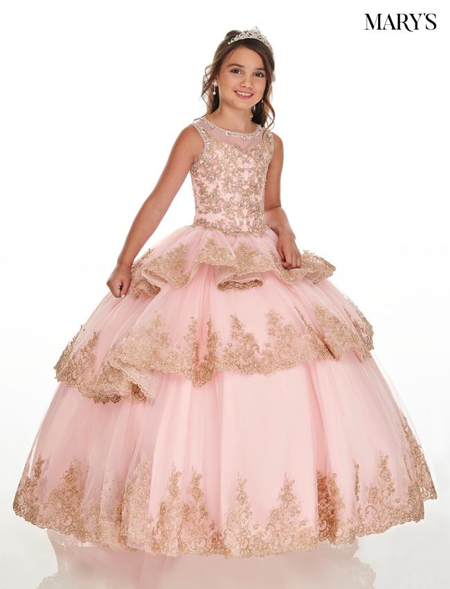 Blush Color Little Quince Dresses - Style - MQ4019