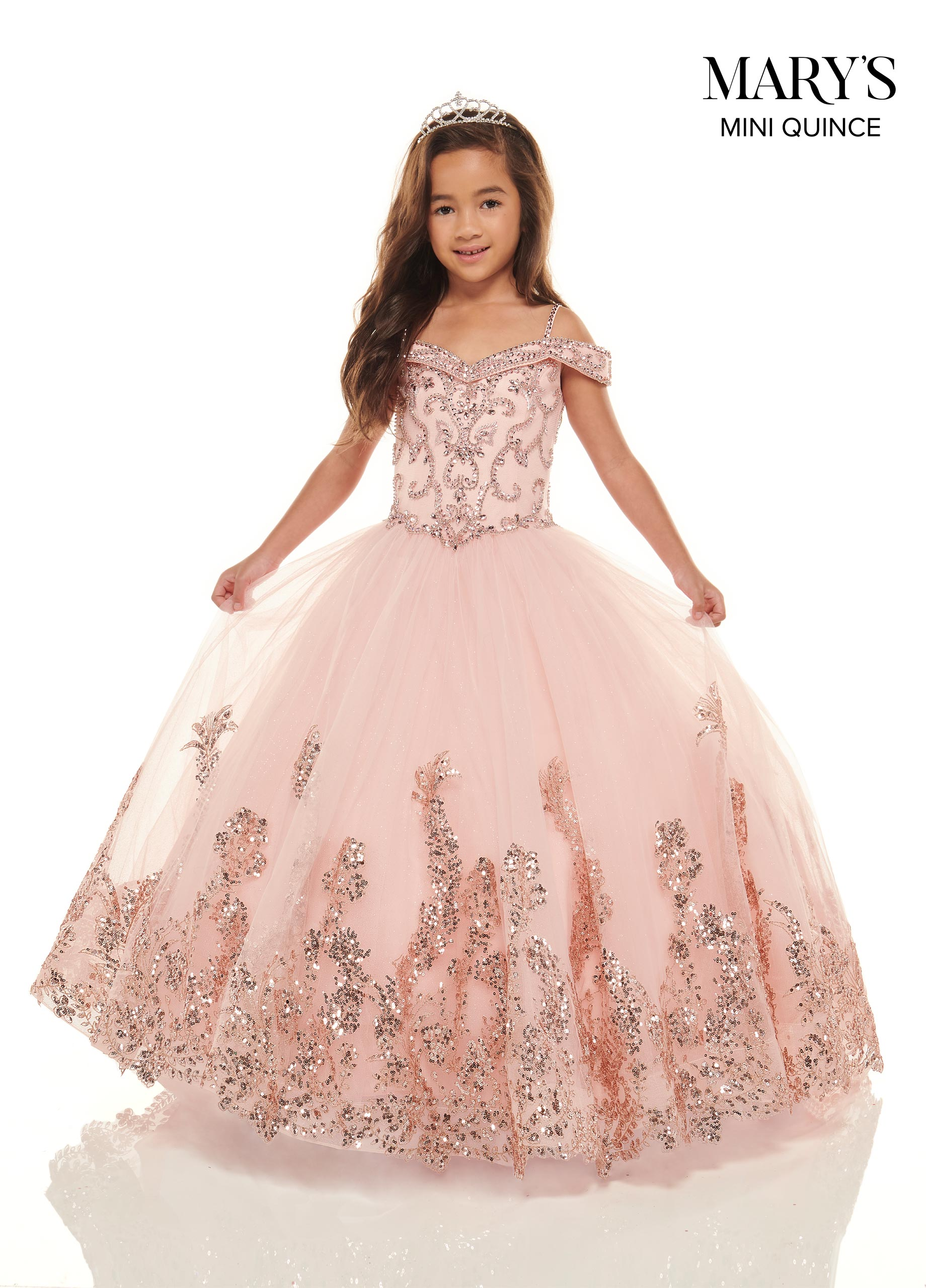 Little Quince Dresses  Style - MQ7 in Blush/Rose Gold, Jade
