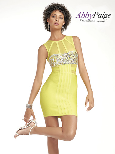 Yellow Color Malia Rose Prom Dresses - Style - P3915