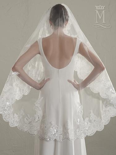 Color Bridal Veils - Style - V645